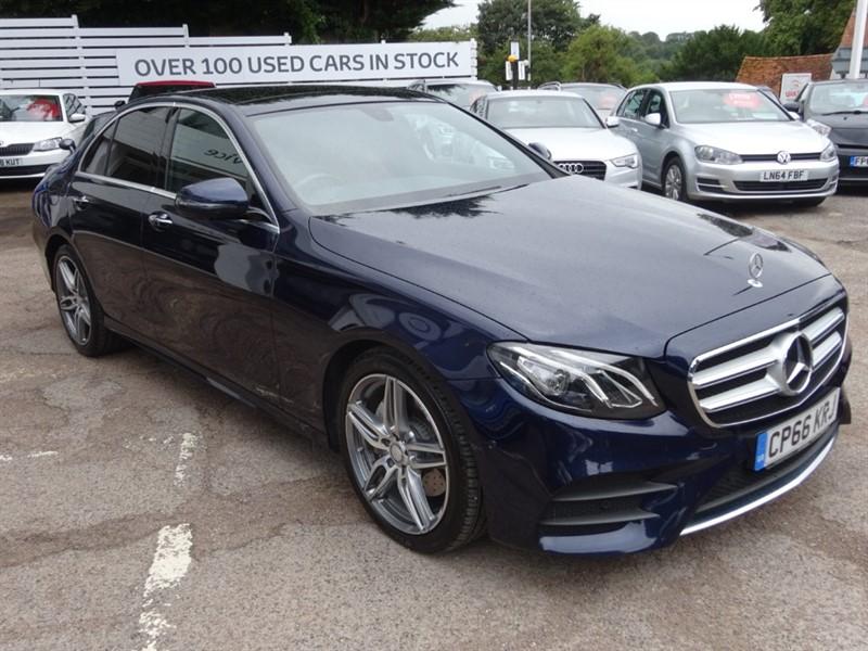 used Mercedes 220 E  D AMG LINE PREMIUM - SUNROOF - H/LEATHER - SAT NAV - FMSH - £30.00 TAX in amersham