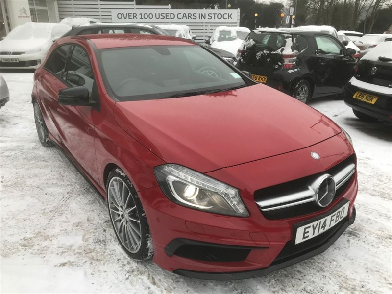 used Mercedes A45 AMG 4MATIC - AMG PERFORMANCE EXHAUST -1/2 LEATHER - PARKING SENSORS in amersham