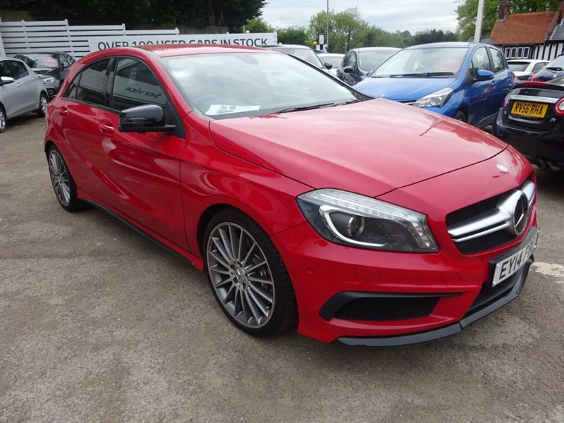 used Mercedes A45 AMG 4MATIC - AMG PERFORMANCE EXHAUST -1/2 LEATHER - SAT NAV in amersham