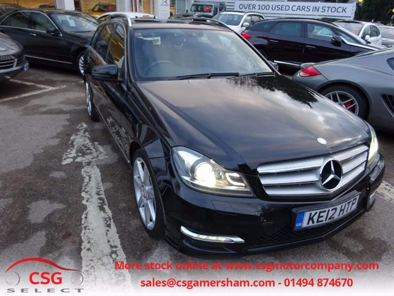 used Mercedes C220 CDI BLUEEFFICIENCY SPORT - SAT NAV - 1/2 LEATHER - FSH in amersham