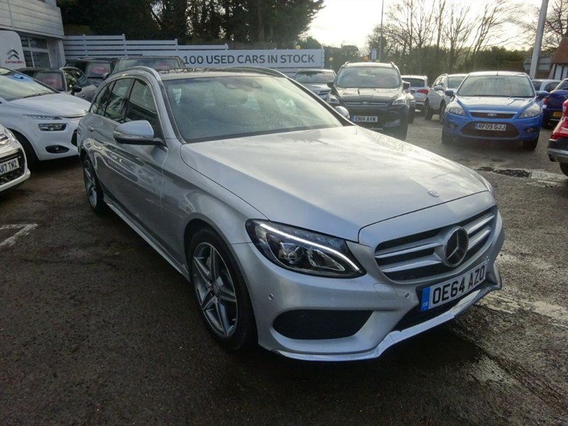 used Mercedes C250 BLUETEC AMG LINE PREMIUM PLUS - P/ROOF - H/LEATHER - SAT NAV - FMSH in amersham