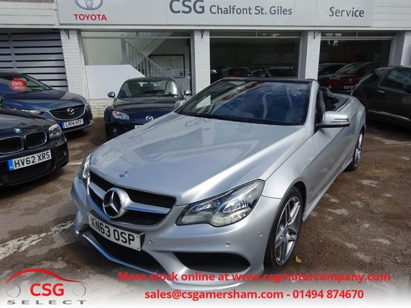 used Mercedes E220 CDI AMG SPORT - FMBSH - SAT NAV - LED LIGHTS - LEATHER in amersham