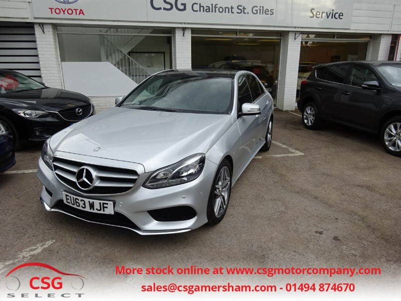 used Mercedes E350 BLUETEC AMG SPORT AUTO - FMBSH - NAV - PAN ROOF - REAR CAM in amersham