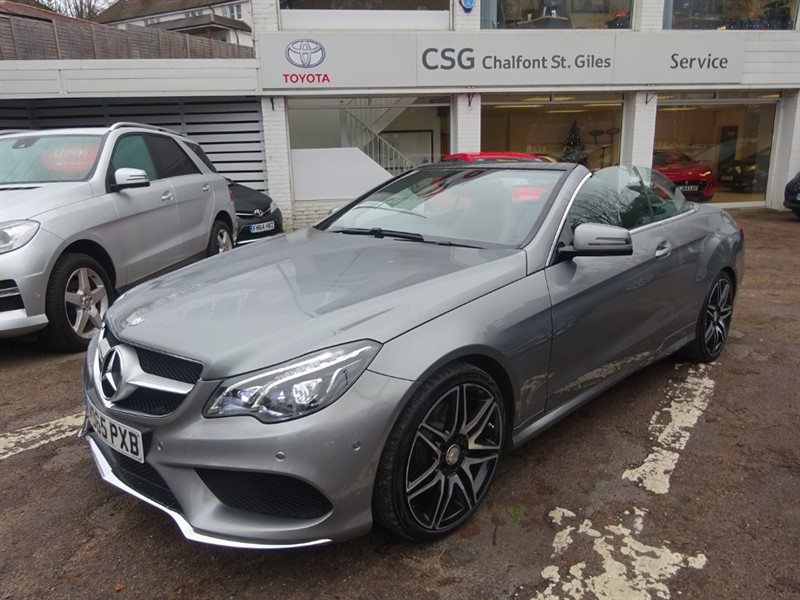 used Mercedes E220 BLUETEC AMG LINE - SAT NAV - H/LEATHER - PDC in amersham