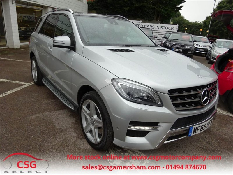 used Mercedes ML250 BLUETEC AMG LINE PREMIUM - FMBSH - PAN ROOF - SAT NAV - ONE OWNER in amersham