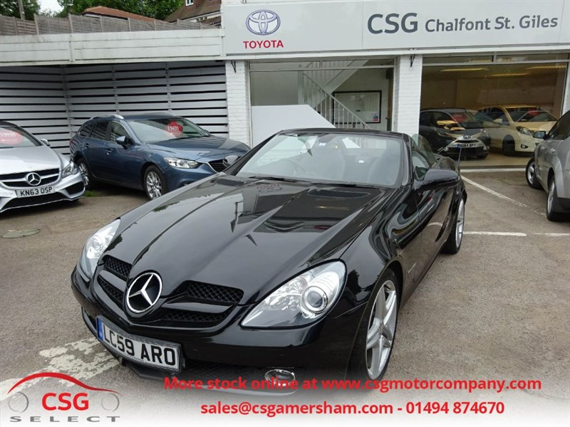 used Mercedes SLK SLK200 KOMPRESSOR - FSH - LEATHER - AMG ALLOYS - BLUETOOTH in amersham