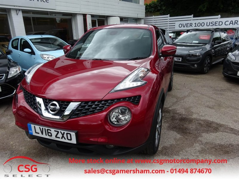 used Nissan Juke TEKNA XTRONIC AUTO - NAV - HEATED LEATHER - 360 CAMERAS - PRIVACY in amersham