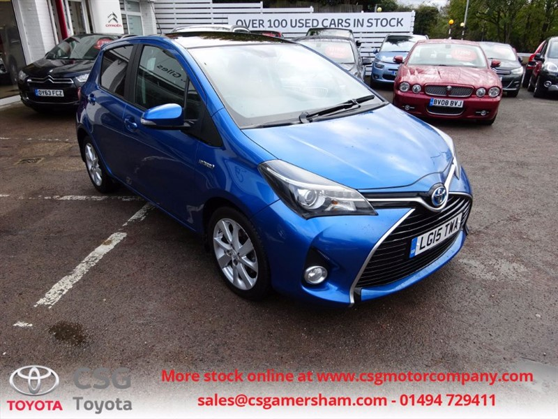 used Toyota Yaris HYBRID EXCEL - SAT NAV - P/ROOF / 1/2 LEATHER in amersham