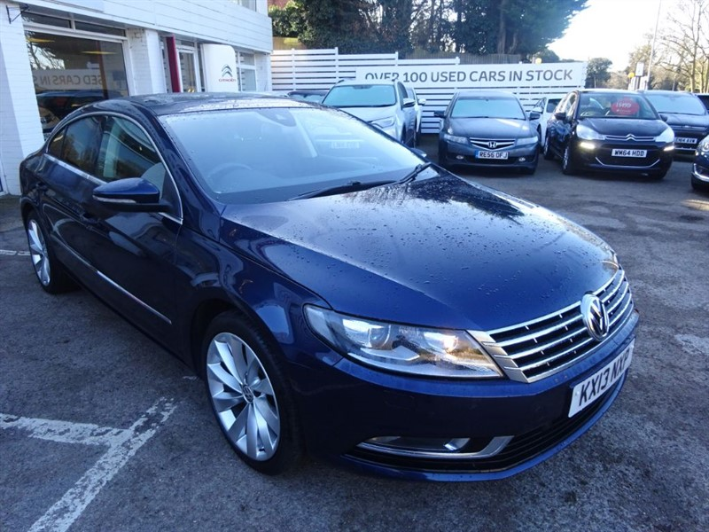 used VW CC GT TDI BLUEMOTION TECHNOLOGY DSG - SAT NAV - H/LEATHER - FFSH -P/ROOF in amersham