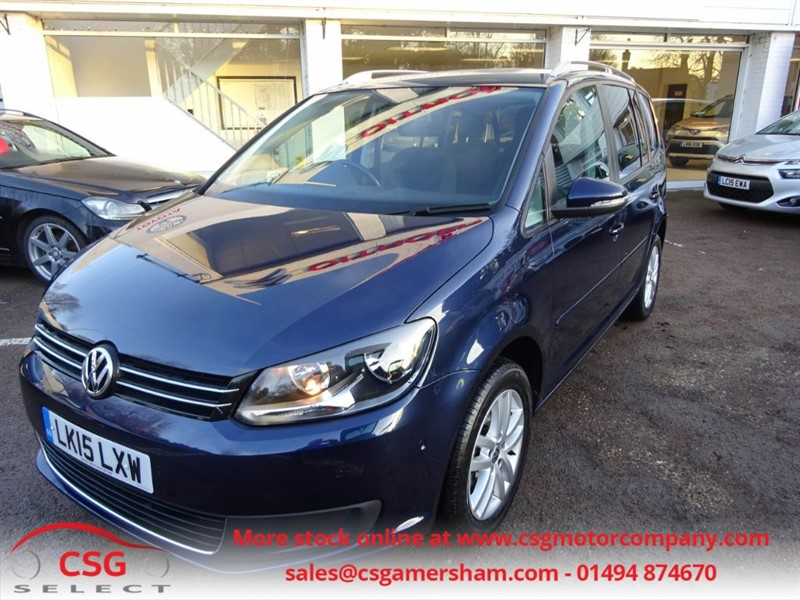 used VW Touran SE TDI BLUEMOTION TECHNOLOGY DSG - FSH - 7 SEATS - R/SENSORS - CRUISE in amersham