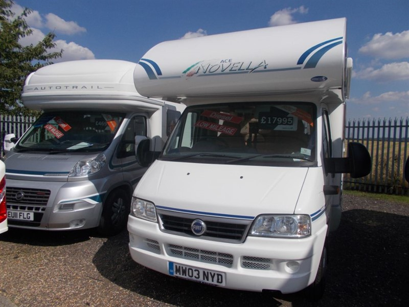 used ACE Milano 5 Berth, 4 Seat belts,Diesel in sandy-bedfordshire