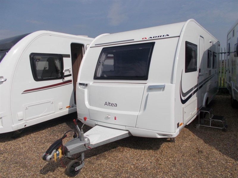 used Adria Altea  Trent Up Island bed in sandy-bedfordshire