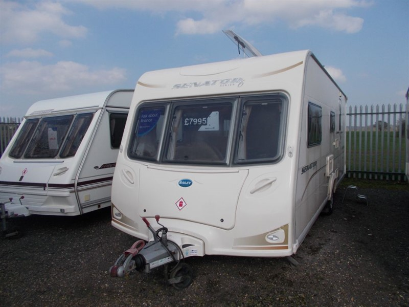 used Bailey Senator  Arizona Family 4 Berth Large end washroom in sandy-bedfordshire