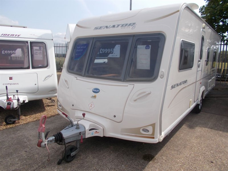 used Bailey Senator  Indiana, Fixed Bed, Spacious, Great Layout in sandy-bedfordshire