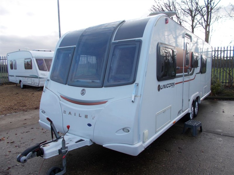 used Bailey Unicorn  Barcelona 4 Berth Fixed Bed Large Bathroom in sandy-bedfordshire