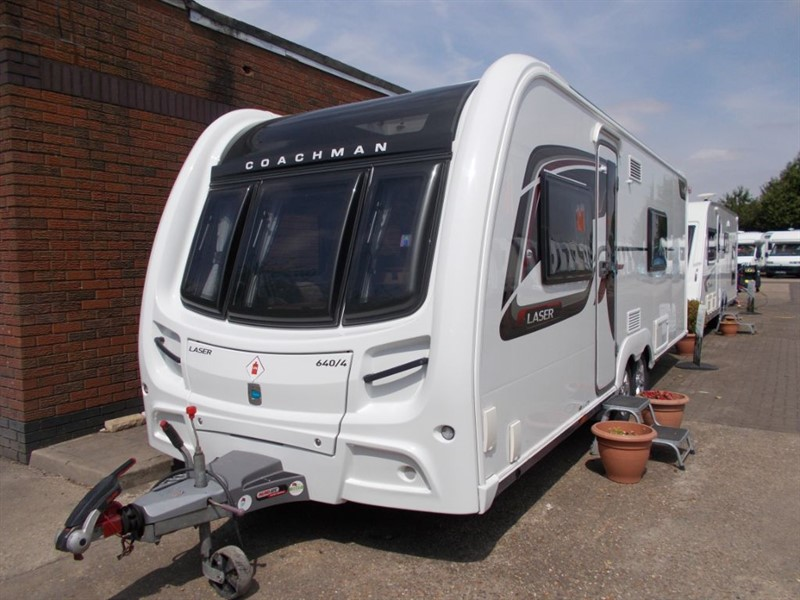 used Coachman Laser 640/4 berth fixed bed Full end Bathroom in sandy-bedfordshire