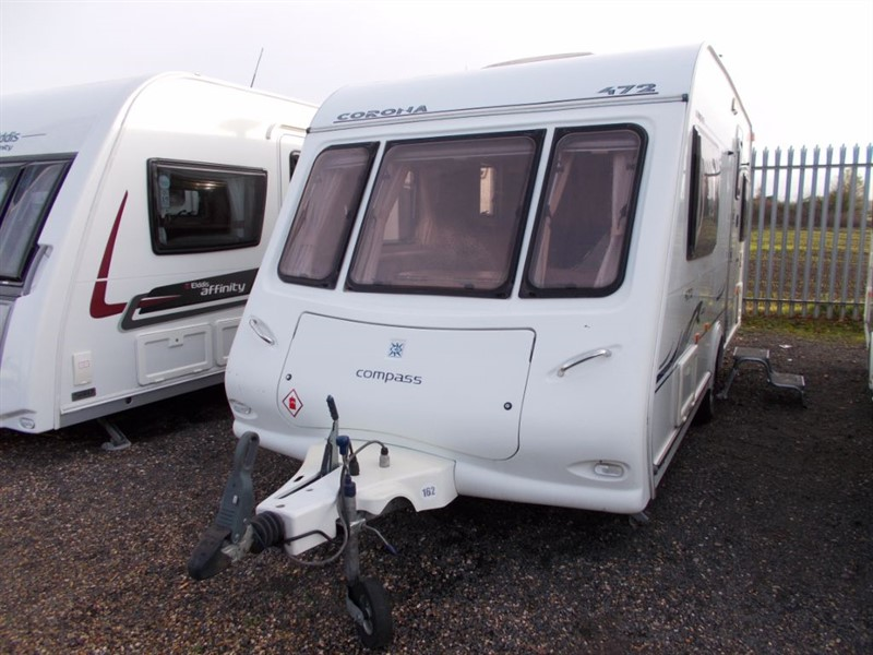 used Compass Corona  472 2 Berth L Shaped Kitchen in sandy-bedfordshire