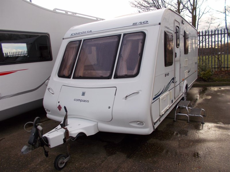 used Compass Corona  540 4 berth fixed bed  in sandy-bedfordshire