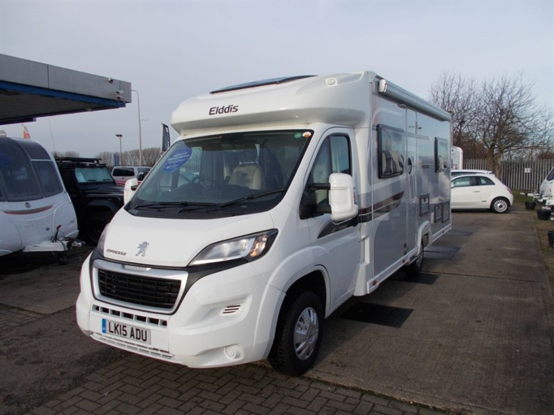 used Elddis Autoquest 155 IMPRESSA FIXED BED 4 BELTED SEATS in sandy-bedfordshire