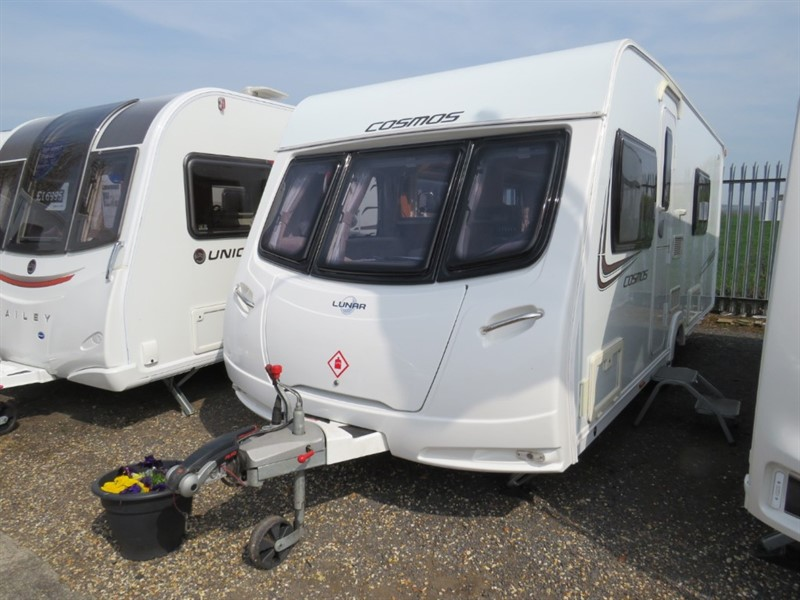 used Lunar Cosmos  (Quasar) 554 Twin singles 4 Berth Porch Awning in sandy-bedfordshire