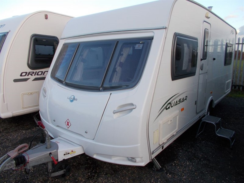 used Lunar Quasar 534 lightweight Fixed bed 4 berth in sandy-bedfordshire