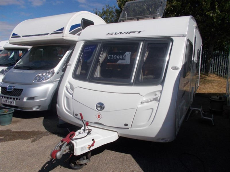 used Swift Challenger  570  fixed bed 4 berth with awning in sandy-bedfordshire