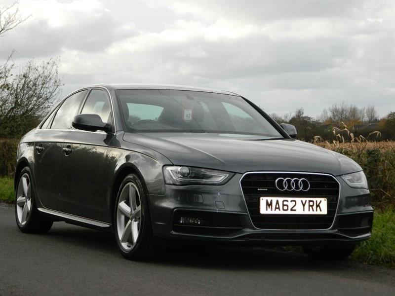 used Audi A4 TFSI QUATTRO S LINE sat nav+park plus in in-preston-and-lancashire