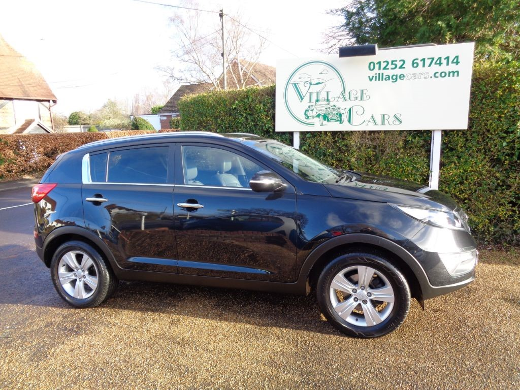 used Kia Sportage CRDI 2 SATELLITE NAVIGATION PANORAMIC SUN ROOF HALF LEATHER in fleet