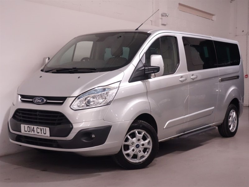 used Ford Tourneo Custom 300 LIMITED TDCI - LWB 9 SEATER -BEIGE LEATHER - DAB - BLUETOOTH - CRUISE - in surrey