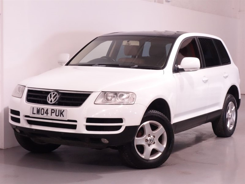 used VW Touareg TDI - BEIGE LEATHER - PARKING SENSORS - NEW MOT in surrey