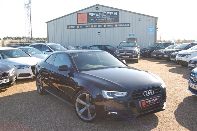 used Audi A5 TFSI S LINE BLACK EDITION in norwich