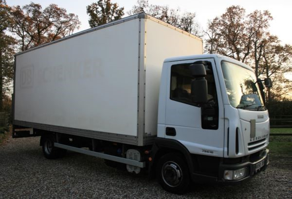 used Iveco Euro EUROCARGO ML75E16S DAY 75e16 4 7.5 ton Box lorry with column taillift MANUAL in chelmsford-essex