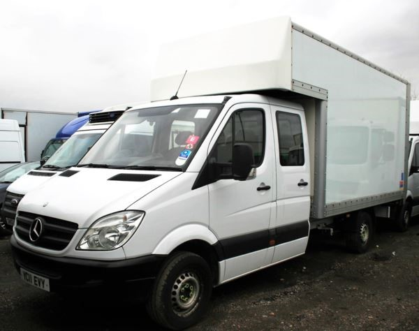 used Mercedes Sprinter 3.5t LWB Luton Crewcab with taillift in chelmsford-essex