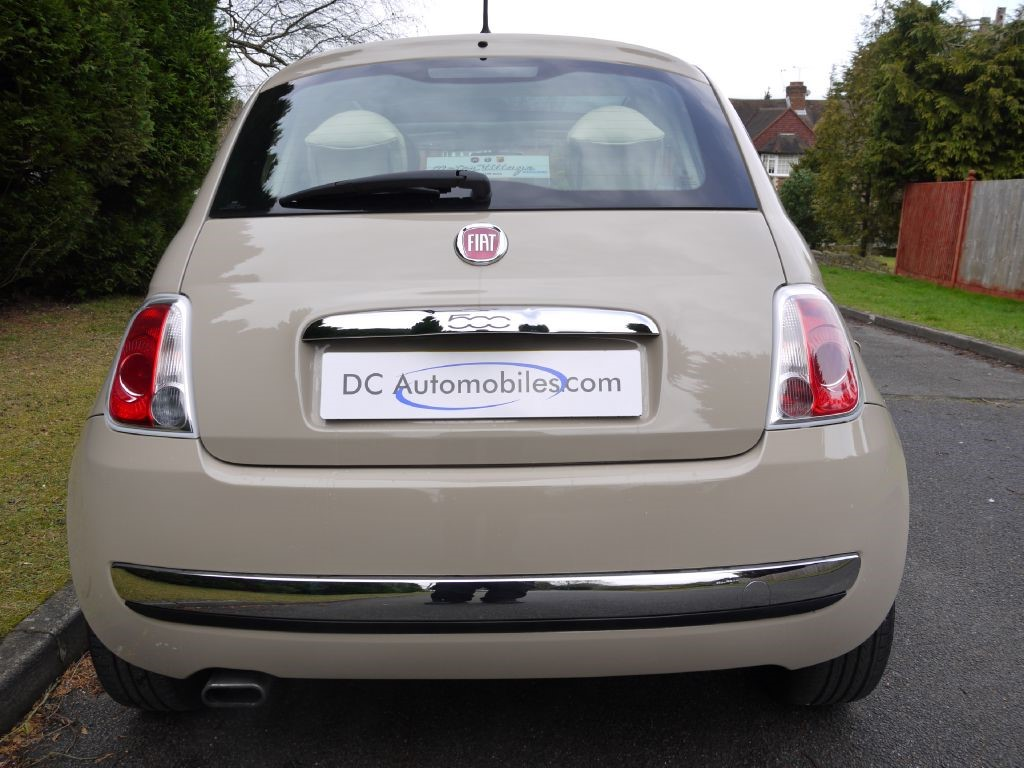 used new age cream fiat 500 for sale surrey. Black Bedroom Furniture Sets. Home Design Ideas