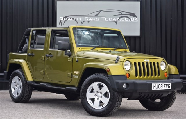 used Jeep Wrangler SAHARA UNLIMITED 2.8 CRD Auto *Full Jeep History* in sheffield