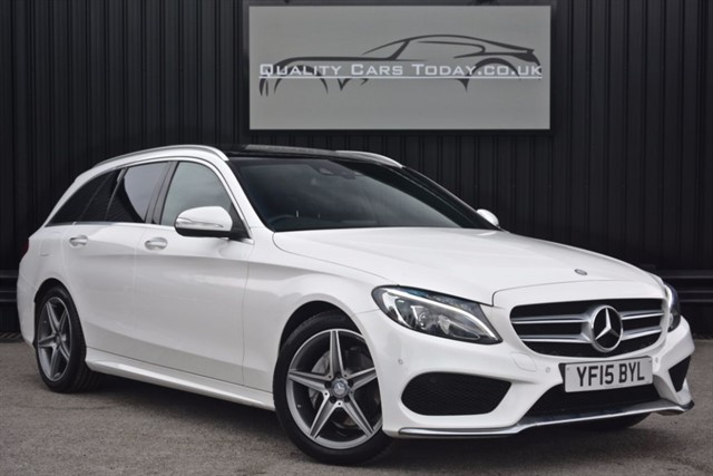 used Mercedes C220 BLUETEC AMG LINE Premium Pack Estate *1 Owner  + FMBSH + VAT Q * in sheffield