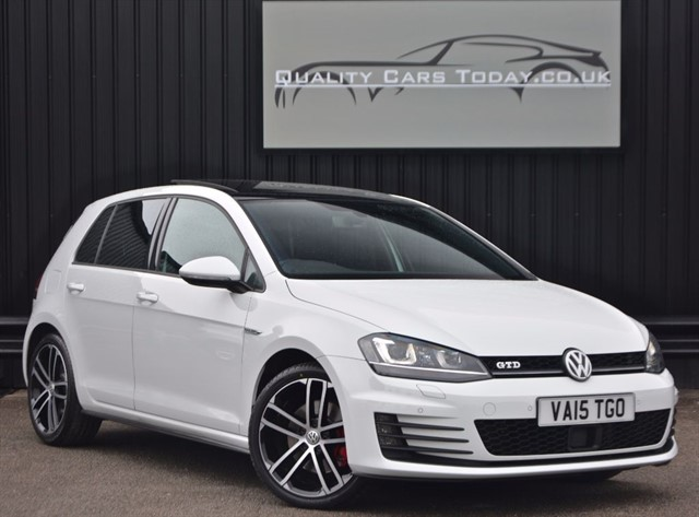 used VW Golf 2.0 GTD DSG Auto *Pure White + Nav + Sport Sound Pack + VW Warranty in sheffield