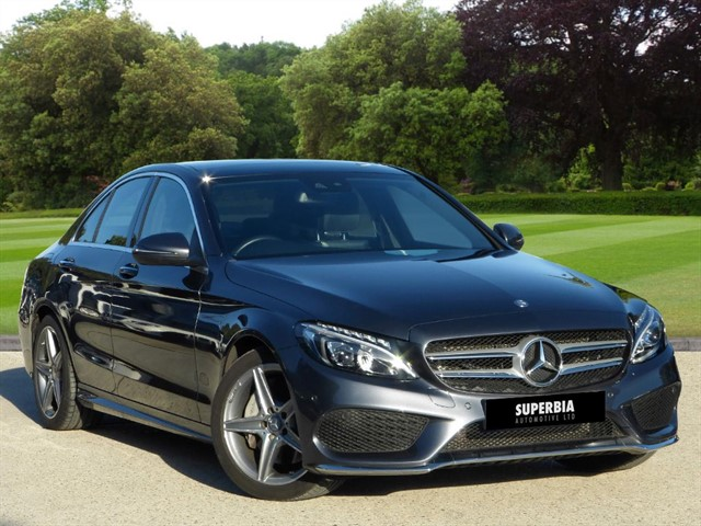 used Mercedes C250 D AMG LINE PREMIUM PLUS in romford-essex
