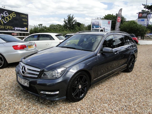 used Mercedes C250 2.1 CDi Blue Efficiency AMG Sport Plus Estate 7 GTronic Auto Tip in dorset
