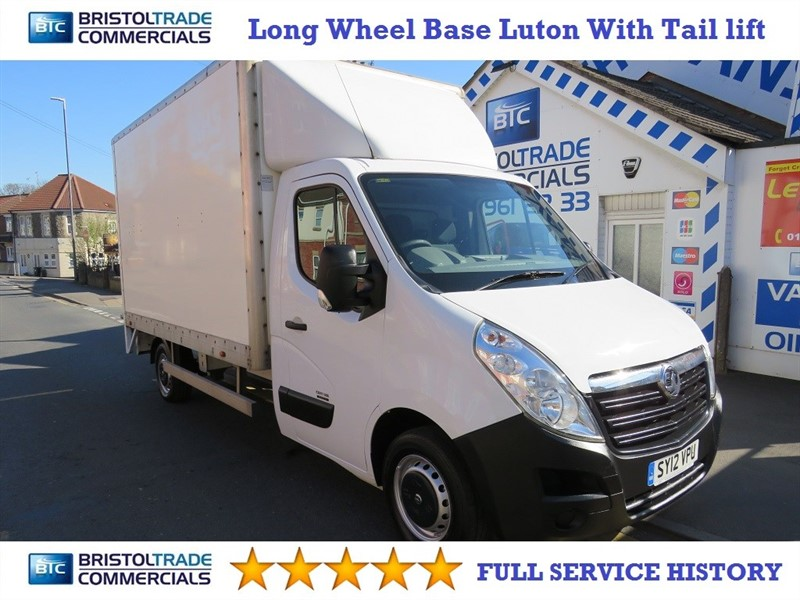 used Vauxhall Movano F3500 L3H1 LUTON WITH TAIL LIFT in bristol