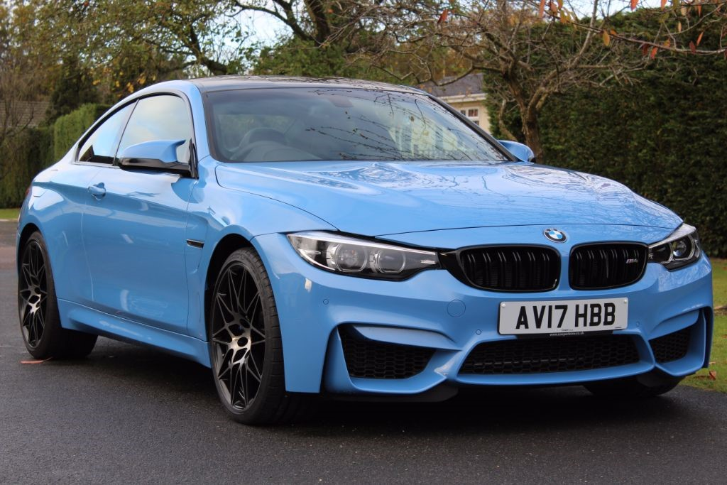 Used Yas Marina Blue Bmw M4 For Sale Hertfordshire