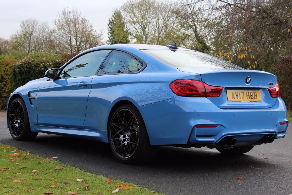Used Yas Marina Blue Bmw M4 For Sale Hertfordshire