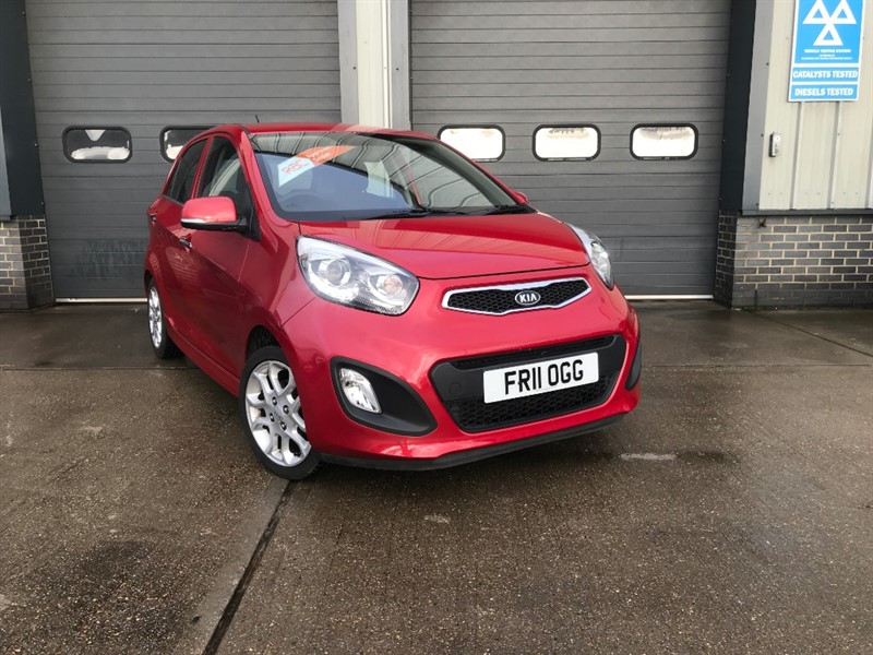 used Kia Picanto 3 1.2, 2011, 5dr, Manual, Petrol, Red, Finance Available in burnham-on-crouch