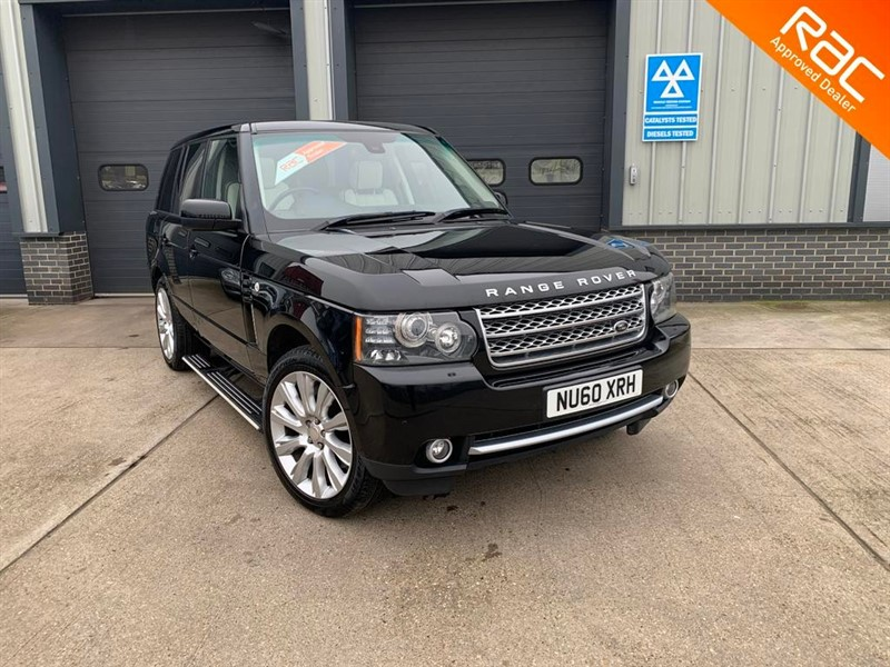 used Land Rover Range Rover TDV8 VOGUE 4.4, 2010, 5dr, Automatic, Diesel, Black, Finance Available in burnham-on-crouch