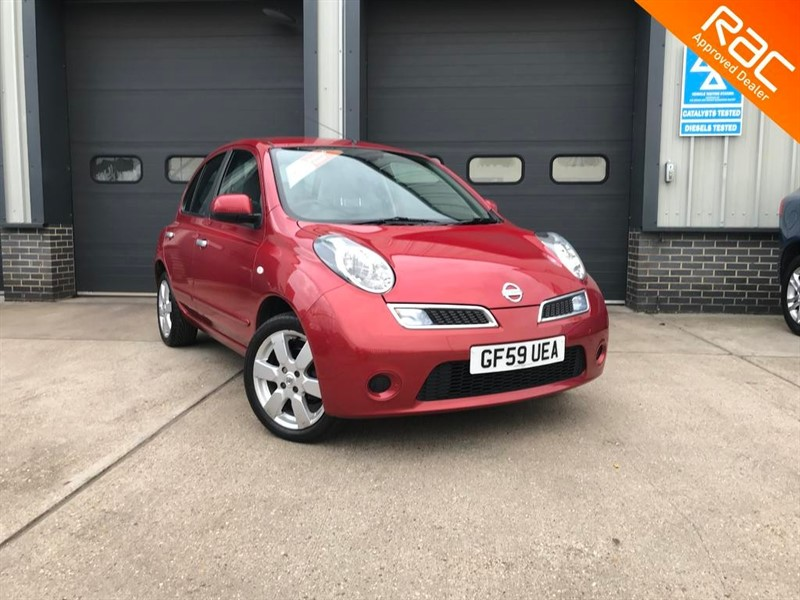 used Nissan Micra TEKNA, 2009, 5dr, Automatic, Diesel, Red, Finance Available in burnham-on-crouch