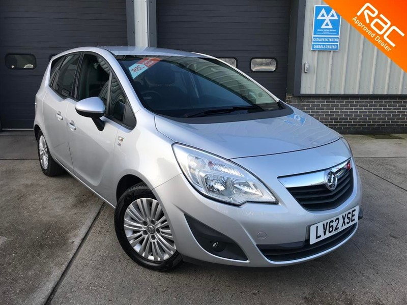 used Vauxhall Meriva EXCITE 1.4, 2012, 5dr, Manual, Petrol, Silver, Finance Available in burnham-on-crouch