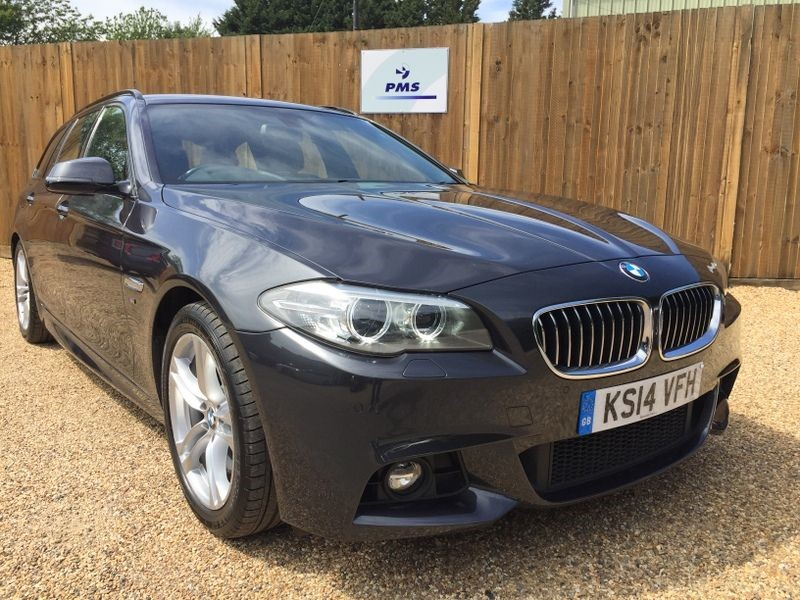 used BMW 520d M SPORT TOURING SAT/NAV-LEATHER-ELECTRIC TAILGATE-BIG SPEC in welwyn-hertfordshire