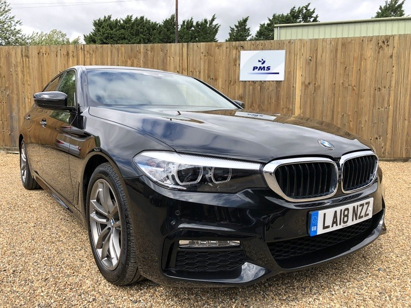 used BMW 520i M SPORT SAT/NAV-LEATHER-BMW WARRANTY TILL JUNE 2021 in welwyn-hertfordshire