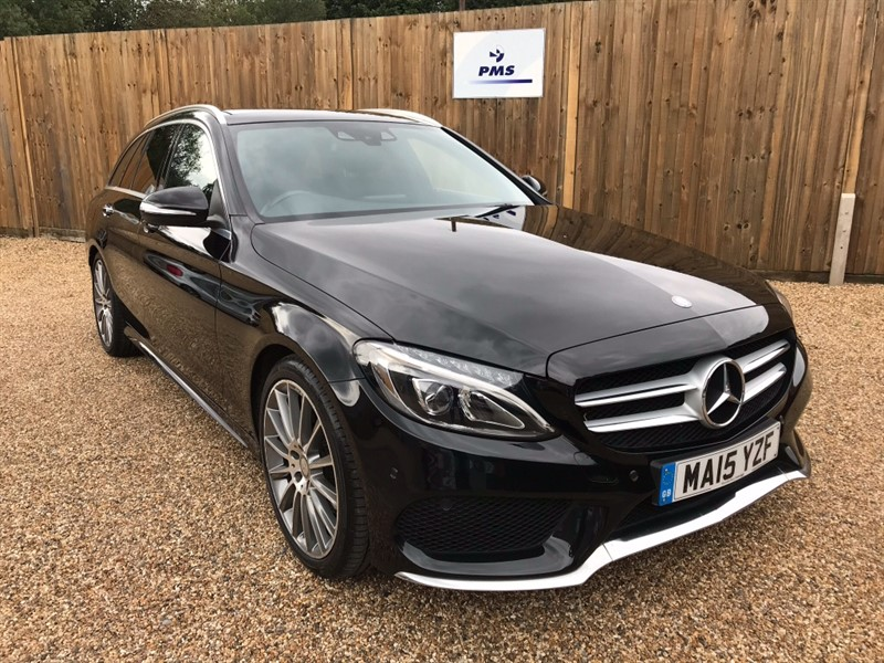 used Mercedes C220 BLUETEC AMG LINE PREMIUM ELECTRIC PANORAMIC SUNROOF in welwyn-hertfordshire