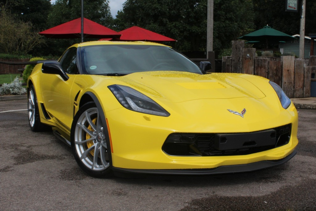 used racing yellow chevrolet corvette for sale virginia water surrey. Black Bedroom Furniture Sets. Home Design Ideas
